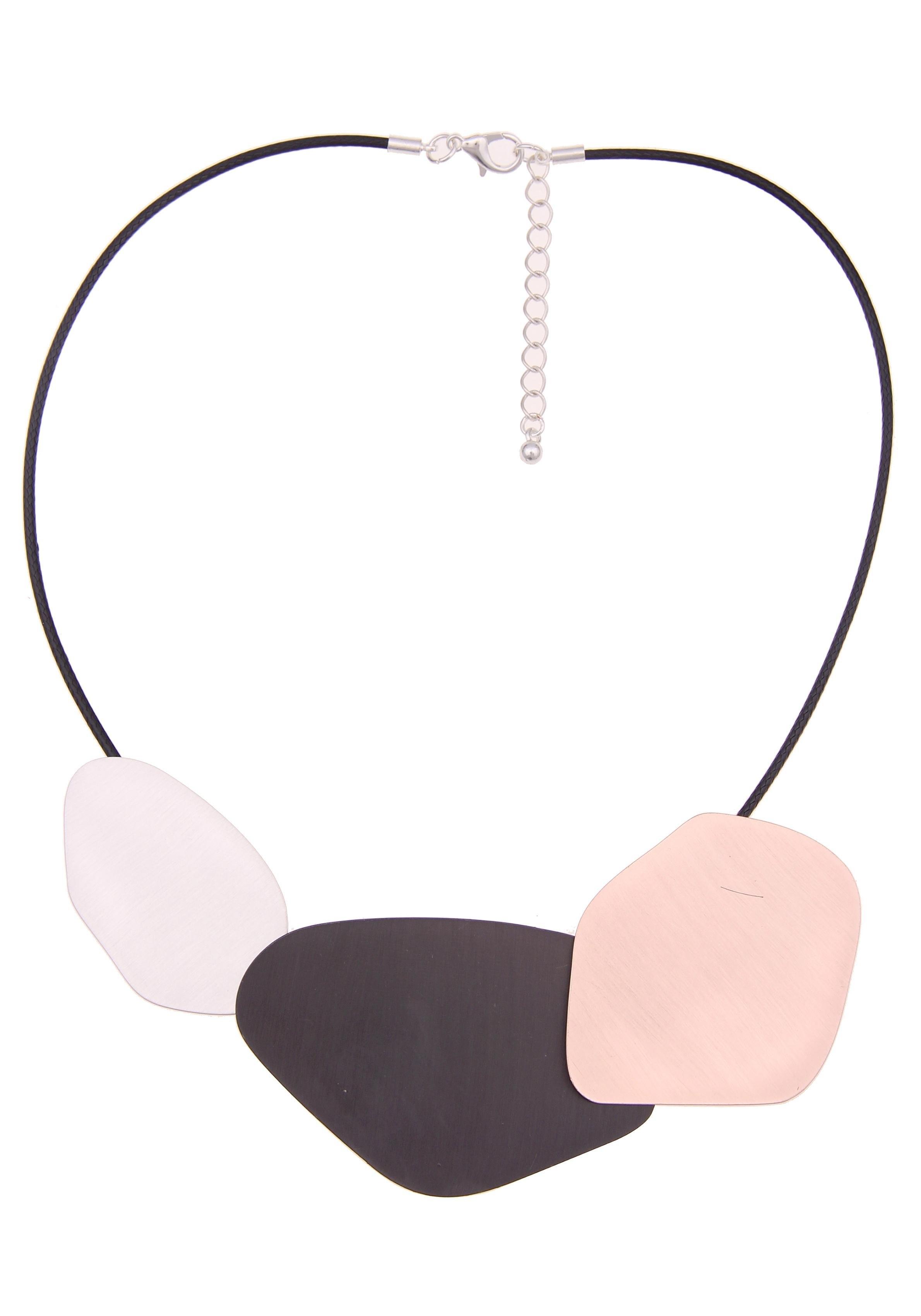 Leslii ketting met hanger »Tricolour-look in zwart zilver lichtpink, 210117194« in de webshop van OTTO kopen