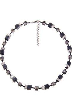 leslii collier »premium quality glitter-dobbelsteen in zwart, 210115759« grijs