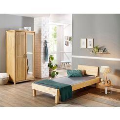 home affaire massief houten ledikant »modia« beige