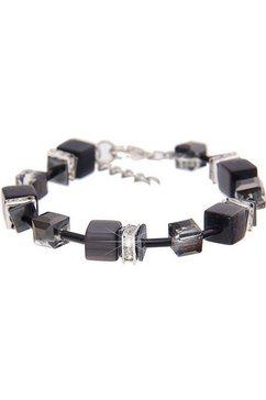 leslii armband »premium quality glitter-dobbelsteen in zwart, 260115759« grijs