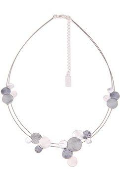 leslii ketting met hanger »dubbele ring in zilver grijs, 210116968« grijs