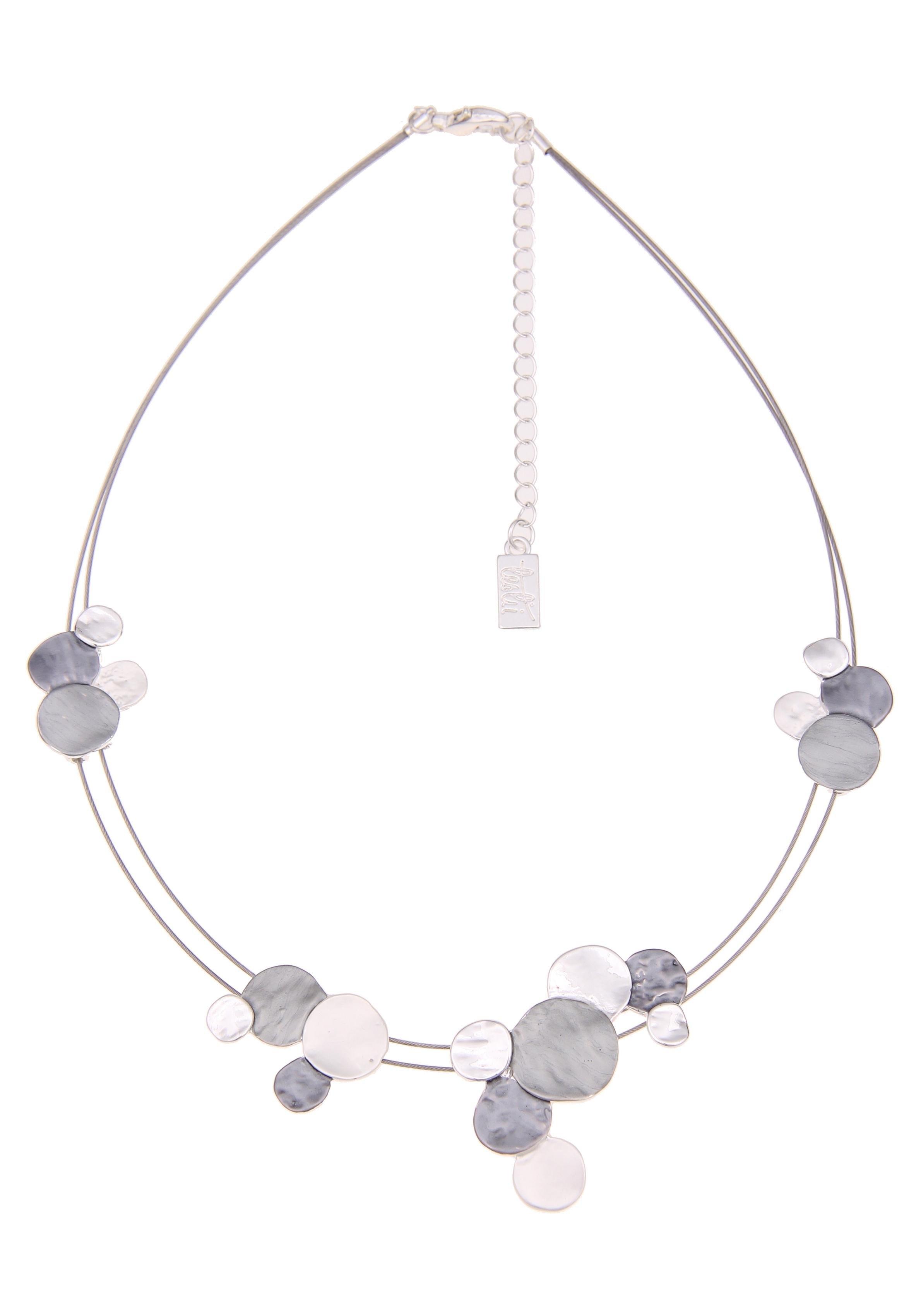 Leslii ketting met hanger »Dubbele ring in zilver grijs, 210116968« bestellen: 14 dagen bedenktijd