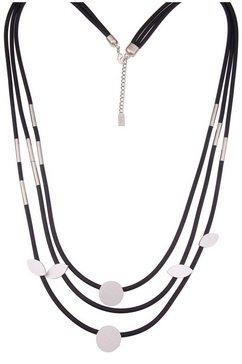 leslii ketting zonder hanger »statement model in zilverkleur zwart, 220116947« zwart