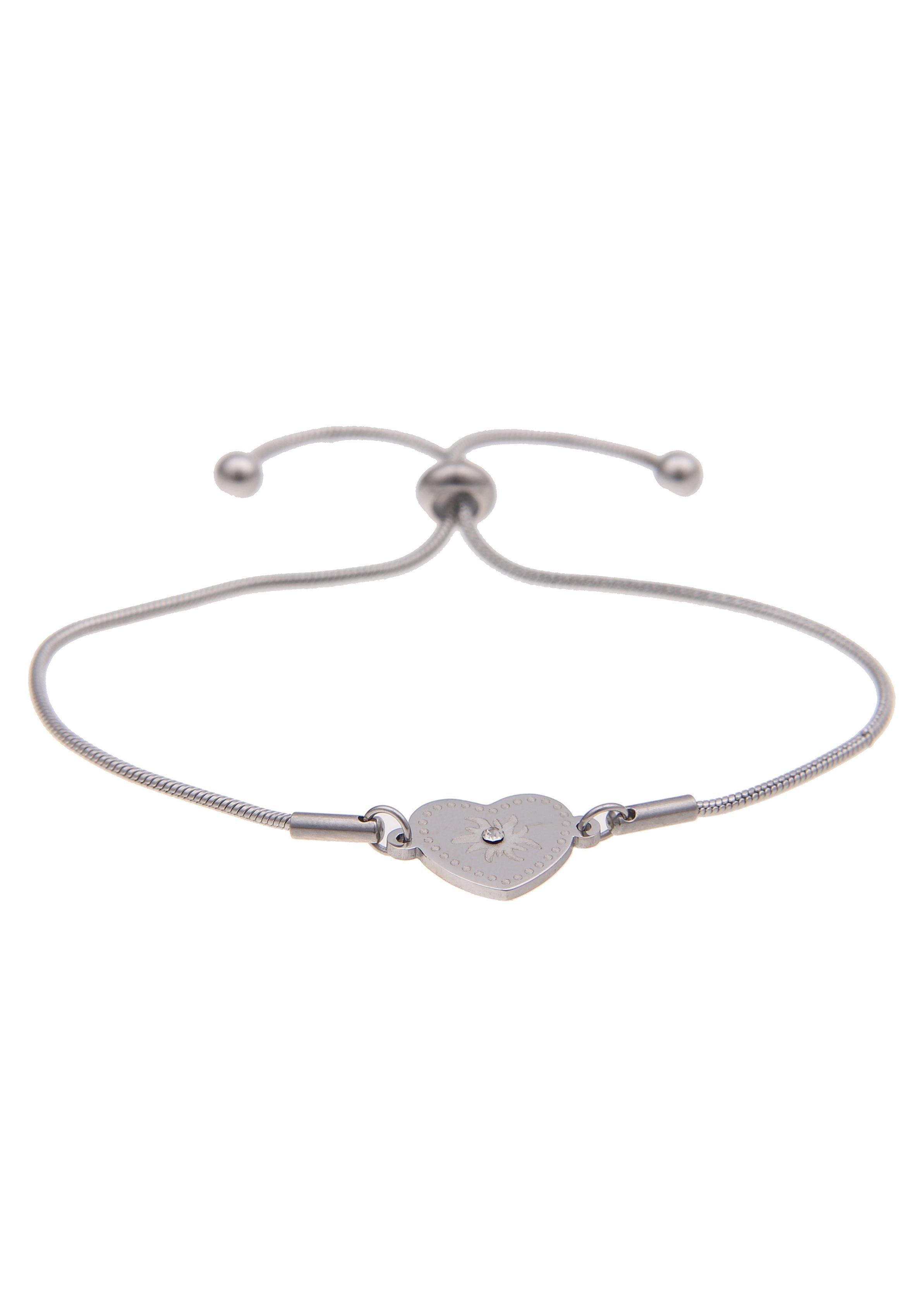 Leslii armband »Alpenrock edelweiss hart in zilverkleur, 260116656« in de webshop van OTTO kopen