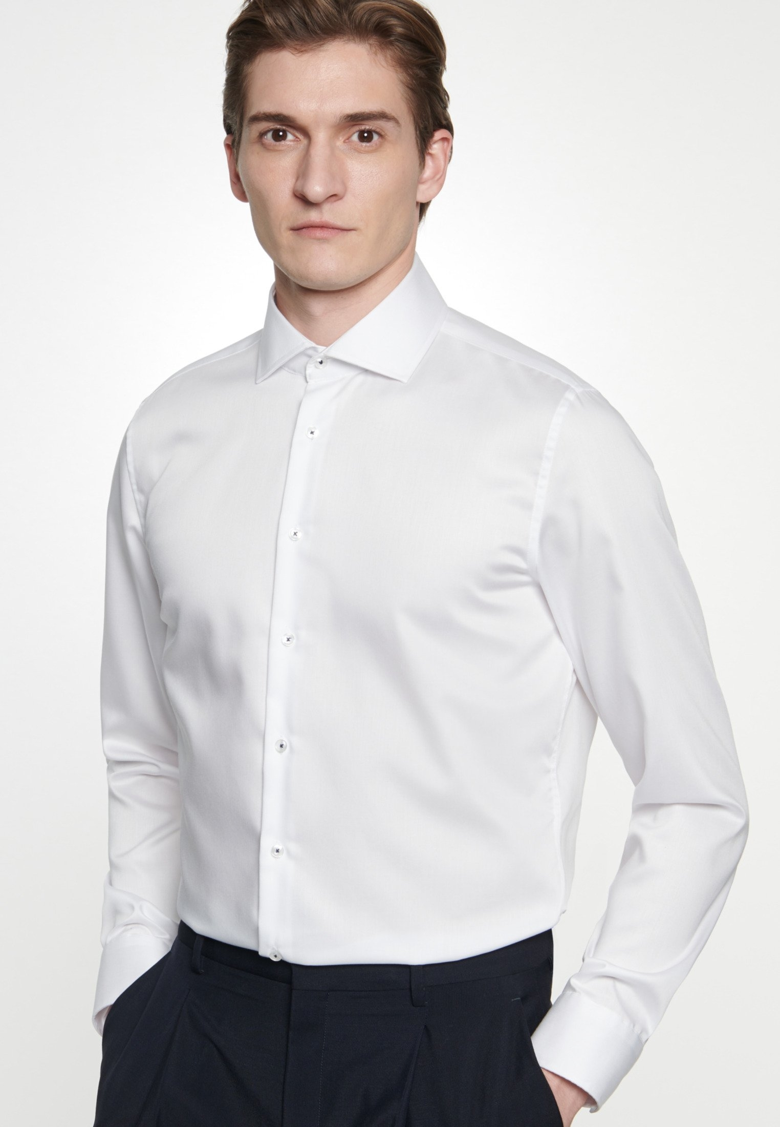 seidensticker businessoverhemd SLIM Slim lange mouwen kentkraag uni nu online kopen bij OTTO