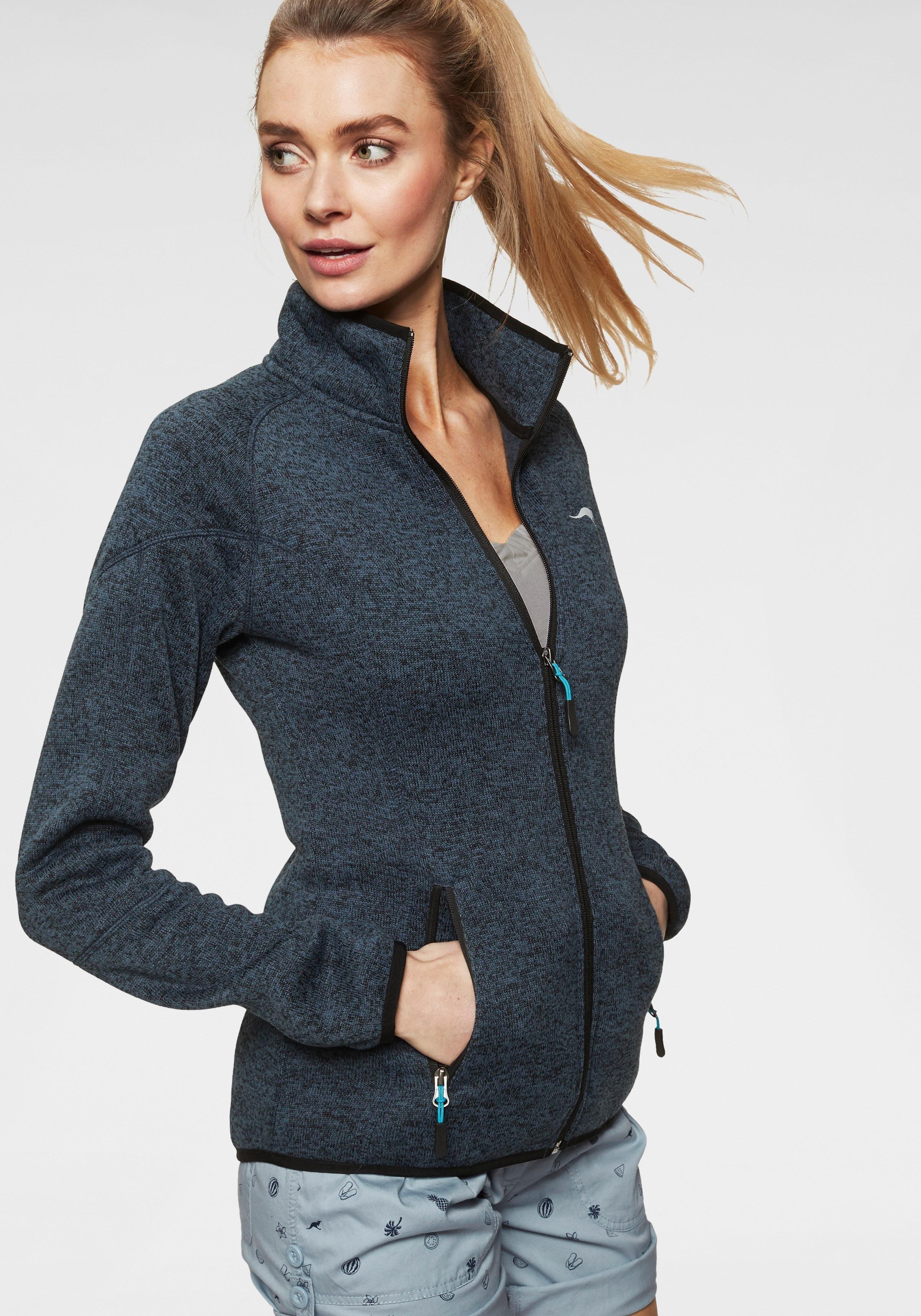 KangaROOS tricot-fleecejack met ritssluiting in contrastkleur voordelig en veilig online kopen