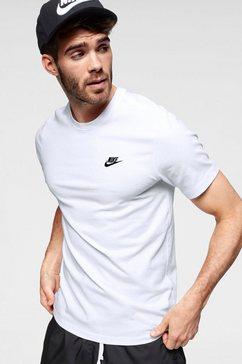 nike sportswear t-shirt »m nsw club tee« wit