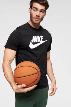 nike sportswear t-shirt »m nsw tee icon futura« zwart