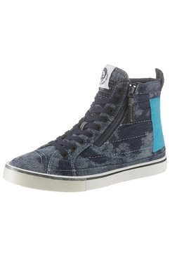 diesel sneakers »d-velows mid patch« blauw