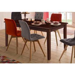 home affaire eettafel »danuta«, in 3 verschillende kleuren en afmetingen, uittrekbaar bruin