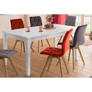 home affaire eettafel »danuta« in 3 verschillende kleuren en afmetingen, uittrekbaar. wit