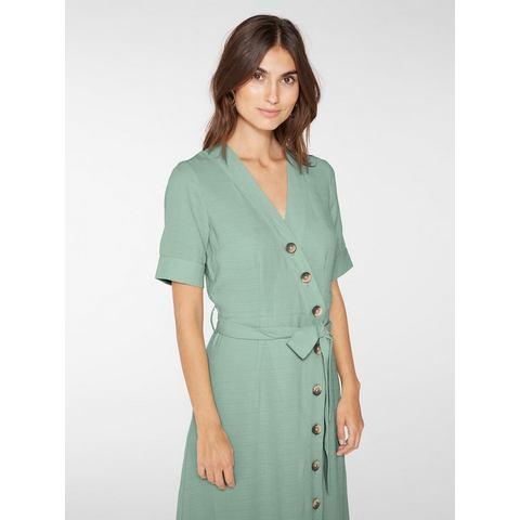 Y.A.S Wikkel Maxi jurk groen