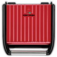 george foreman »steel entertaining fitnessgrill 25050-56, 1850 watt« contactgrill rood