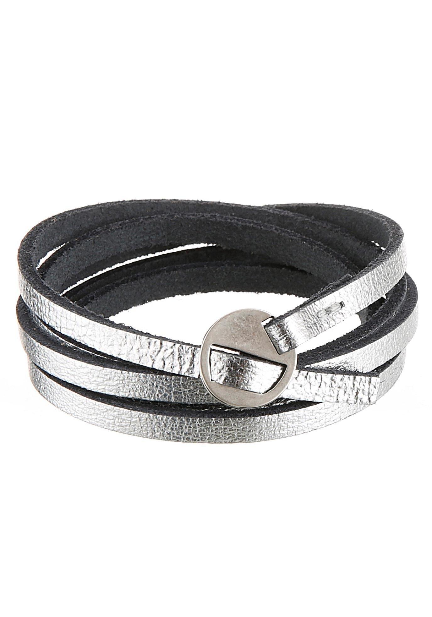 J.Jayz leren armband In metallic-look, om te wikkelen (1-delig) bij OTTO online kopen