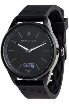 quiksilver - the timebox activ - analoog-digitaal horloge voor heren zwart