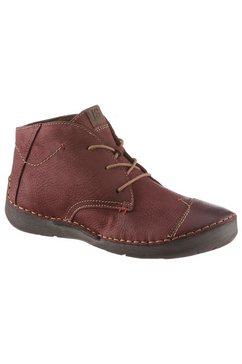 josef seibel hoge veterschoenen fergey 18 met uitneembaar voetbed rood