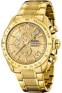festina chronograaf »chrono sport, f20441-1« goud