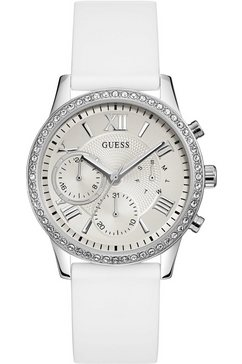 guess multifunctioneel horloge »solar, w1135l7« wit