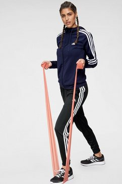 adidas performance trainingspak »osr polyester 3 stripes tracksuit« (set, 2-dlg.) blauw