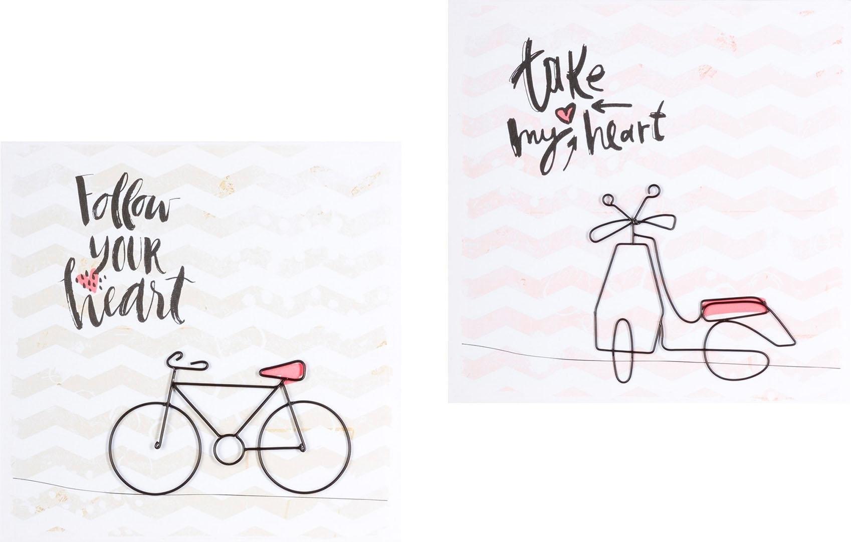 Creativ home artprint op linnen THE BIKES Canvas deco afbeelding online kopen op otto.nl