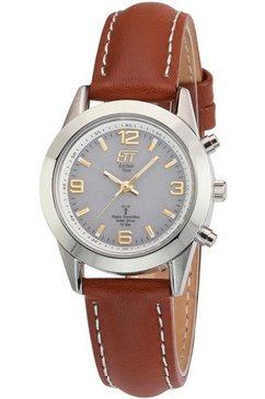 ett radiogestuurd horloge »gobi, els-11268-11le« (set, 2-delig, horloge met snellader) bruin