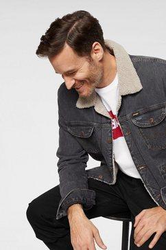 wrangler jeansjack »sherpa« zwart