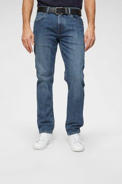 wrangler straight jeans »authentic straight« blauw