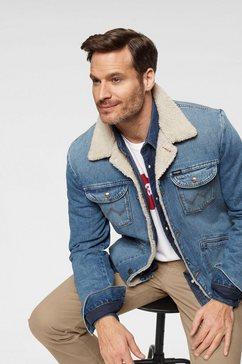 wrangler jeansjack »sherpa« blauw