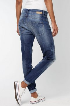 gang relax fit jeans amelie relaxed fit met used-effecten blauw