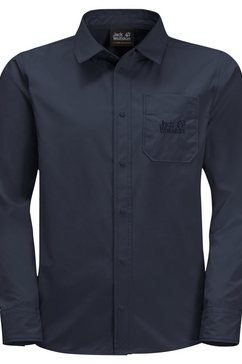 jack wolfskin shirt met lange mouwen »lakeside shirt kids« blauw