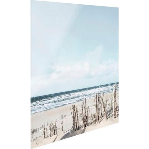 print op glas Tag am Strand
