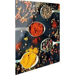 print op glas »scharfe gewuerze« multicolor