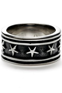 royal ego ring »ster - star silver, 1715« zwart