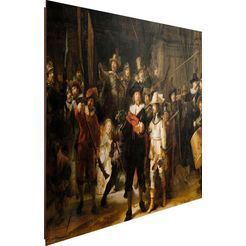 decoratief paneel »rembrandt die nachtwache« bruin