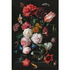 home affaire decoratief paneel stilleven bloemen in vaas jan davidsz de heem multicolor