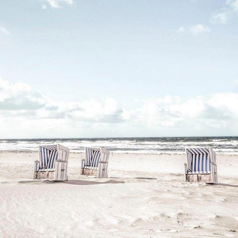 print op glas Tag im Strandkorb