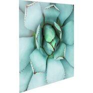 print op glas »agave herz« groen