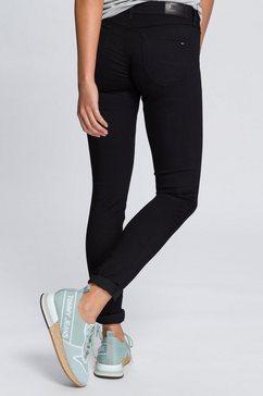 tommy jeans jeans »low rise skinny sophie dnbst« zwart