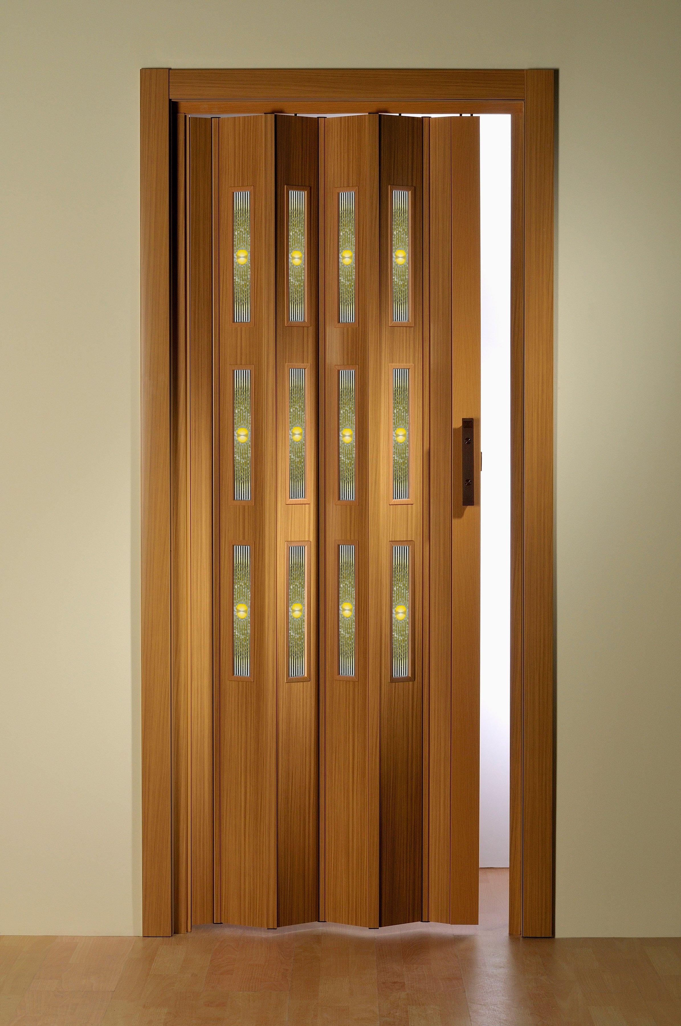 Op zoek naar een Kunststof vouwdeur »Decor 3 Sole«, Bxh: 88,5x202 cm, beukenkleur met motief in raam? Koop online bij OTTO