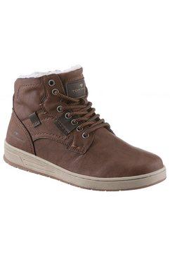 tom tailor sneakers met een warme voering bruin