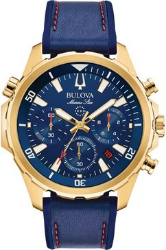 bulova chronograaf »marine star, 97b168« blauw