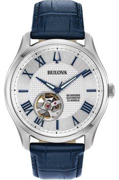 bulova automatisch horloge »wilton, 96a206« blauw