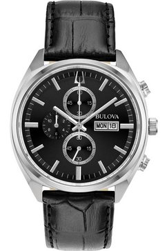 bulova chronograaf »surveyor, 96c133« zwart