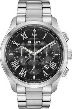 bulova chronograaf wilton, 96b288 zwart