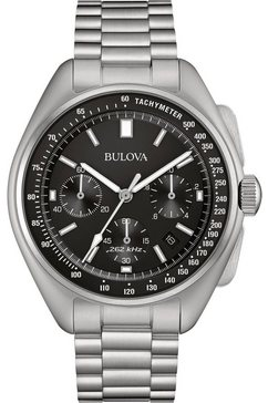 bulova chronograaf »lunar pilot, 96b258« zilver