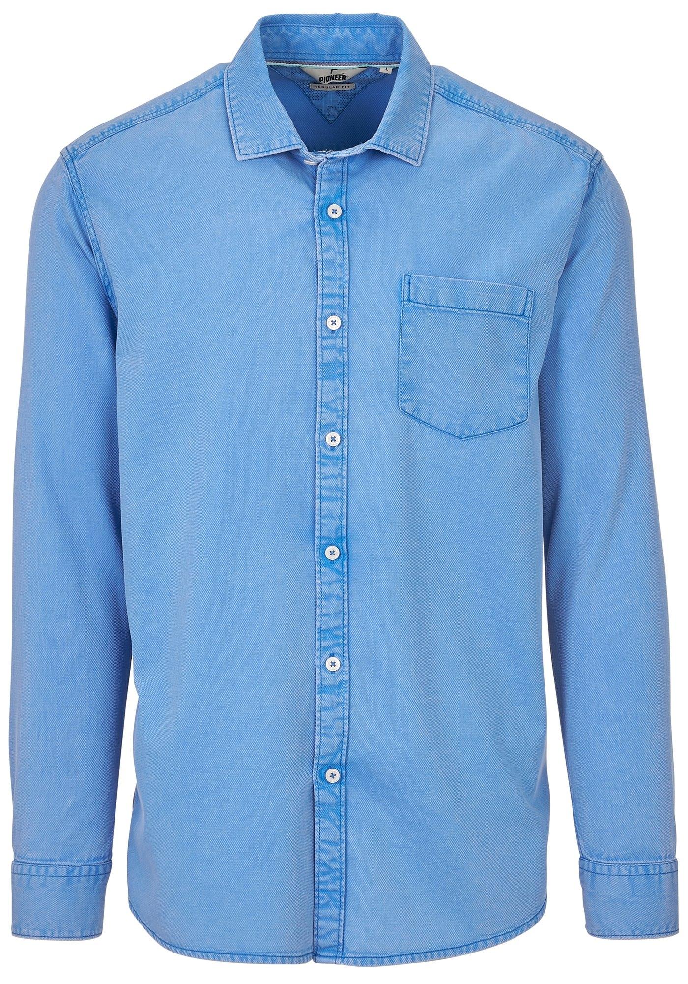 Heren Overhemd Blauw.Pioneer Herenoverhemd Herenoverhemd Shirt Makkelijk Besteld Otto