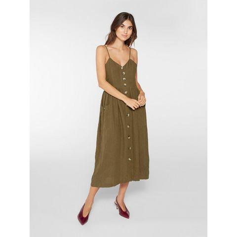 Y.A.S Katoen-linnenblend cami jurk groen