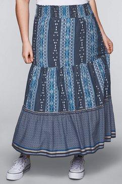 sheego casual rok met sierknoopsluiting blauw