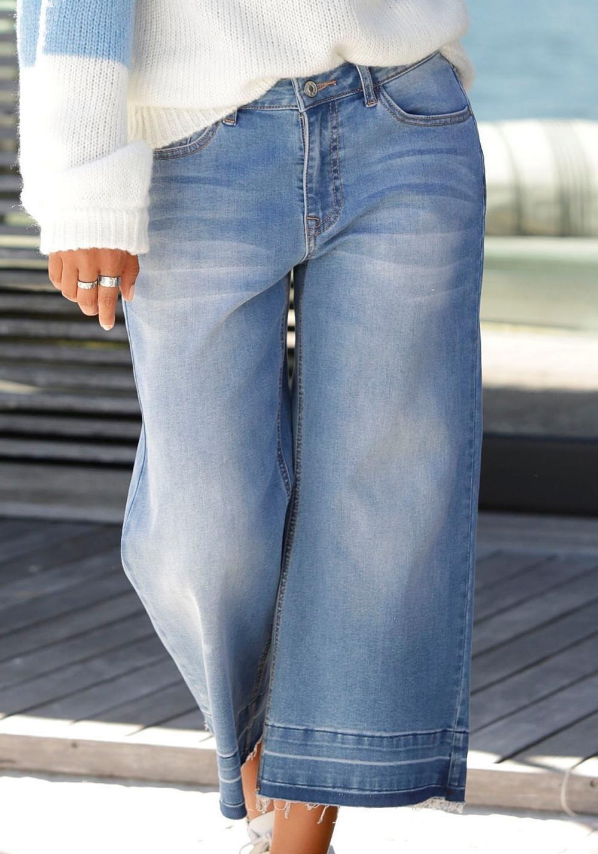 Met Nu Gerafelde Bij jeans Buffalo Culotte RandenBestel 0Nv8nwmO