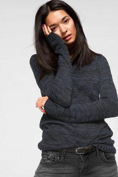 ajc gebreide trui met strasbeleg op de schouders blauw